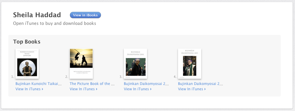 Image of iBooks Listing